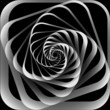 Spiral motion. Abstract background.