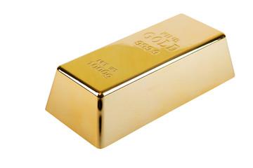 Goldbarren freigestellt