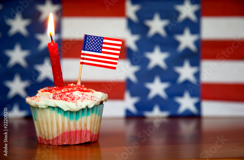 Foto Spatwand Koekjes Happy Birthday USA