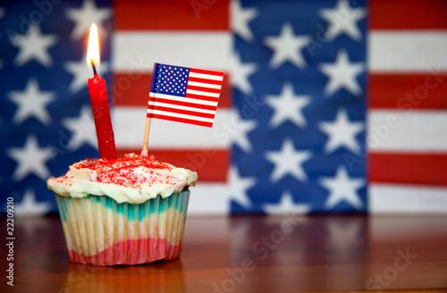Fotobehang Koekjes Happy Birthday USA