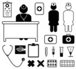 medical icons, vector set