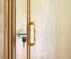 Locker handle with keys