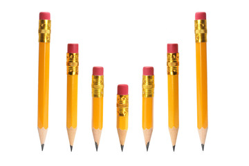 Row of Short Pencils