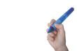 großer blauer Kugelschreiber