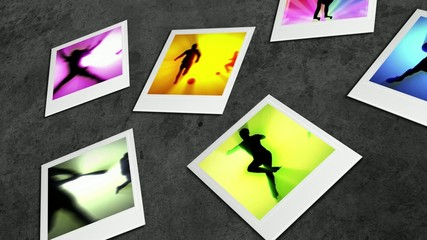 Sport motion in photo frame