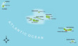 Karte Azoren vektor