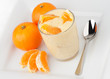 Orange Yogurt with oranges
