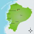 Karte Ecuador vektor
