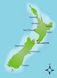 Karte Neuseeland vektor
