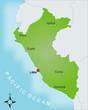 Karte Peru vektor