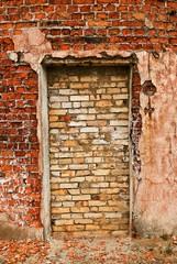 brick door in a wall
