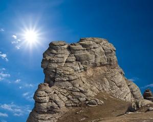 rock under a sun