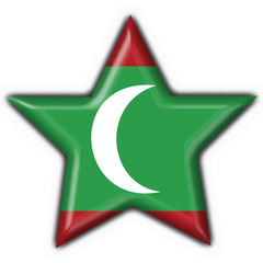 maldives button flag star shape