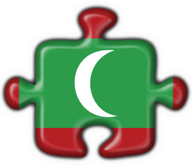 maldives button flag puzzle shape