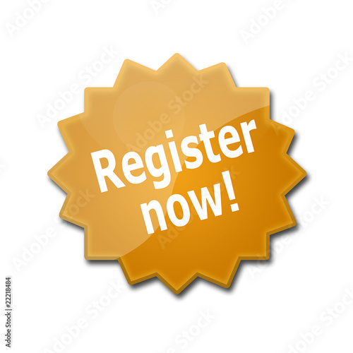 "Estrella brillante con texto ""REGISTER NOW"""