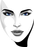 Viso Bella Ragazza-Beautifull Girl's Face-Vector