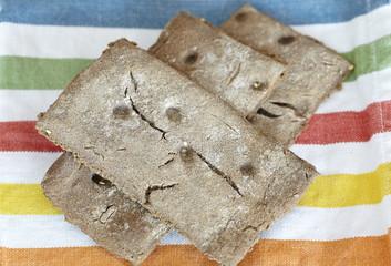 Rye crisp bread wafers whole grain