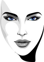 Viso Bella Ragazza-Beautifull Girl's Face-Vector