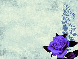 Biglitto ivito con rosa blu