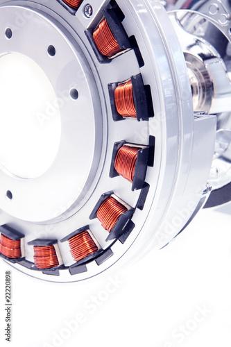Leinwanddruck Bild Moderner Elektromotor