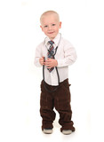 Standing Child Pretending to be a Doctor poster