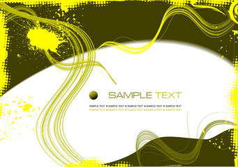 Grunge abstract yellow background. vector