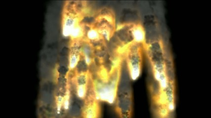 Explosion, fire, smoke