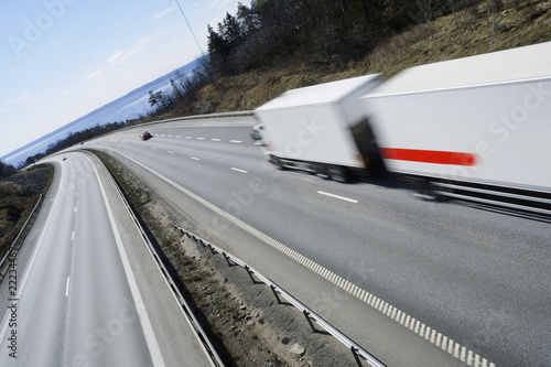 trucking at full speed