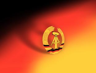 Flag symbol for DDR, east germany