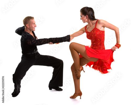 Foto op Aluminium Dance School Ballroom Dancers Latin 10