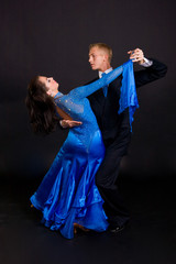 Ballroom Dancers Blue 10