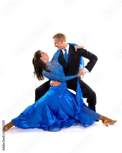 In de dag Dance School Ballroom Dancers Blue 05