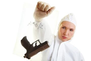 Beweissicherung einer Kriminaltechnikerin