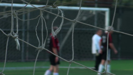 Soccer game goal soft focus - HD