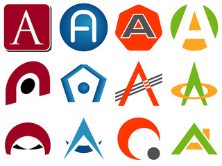 Letter A Logo Icons
