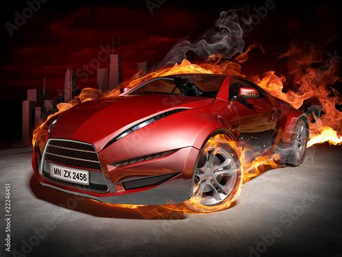 czerwony-samochod-w-plomieniach