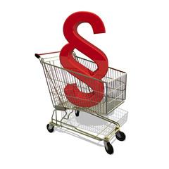 Einkaufswagen Recht