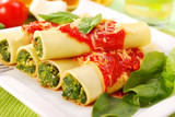 Fototapety cannelloni with spinach