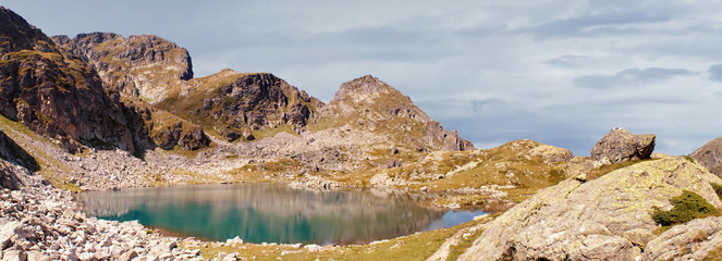 Lake high up in the Rila mountain range,Bulgaria