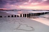 CalmnessBeautiful sunset with symbol of love