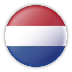 Round Pin Flag of Netherlands