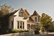 Leinwandbild Motiv suburbia victorian house