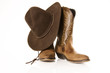cowboy boots with hat - 22256854