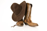 cowboy boots with hat
