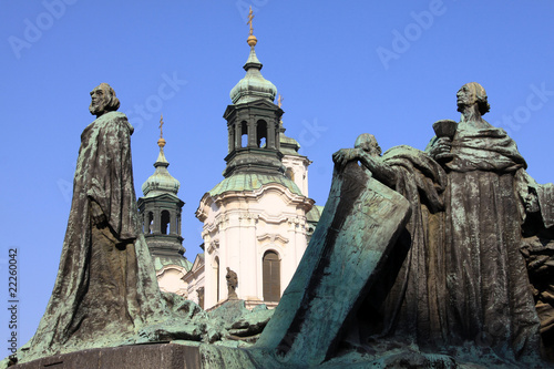 Monument of John Hus on the Oldtown Square in Prague