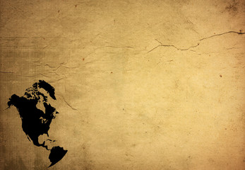 aged America map-grunge artwork..