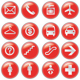 Airport and Travel Icons, Vector File pictogram poster