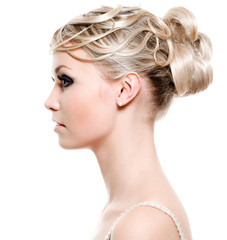 Beautiful modern wedding hairstyle
