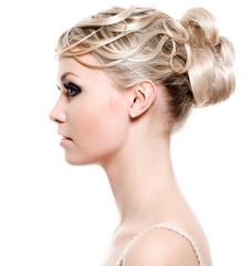 Beautiful modern wedding hairstyle