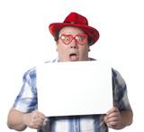 homme travesti panneau insertion écritures poster